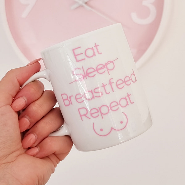 Eat Sleep Breastfeed Repeat Mug